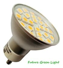 GU10 24 SMD LED 240V 380LM 3.5W DIMMABLE WHITE BULB WITH GLASS COVER ~50W