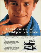 PUBLICITE ADVERTISING 074  1986  GILETTE  rasoir ligne CONTOUR