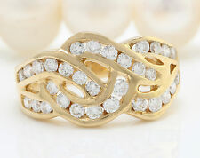 1.00CTW Natural VS2-SI1 / F-G DIAMONDS in 14K Solid Yellow Gold Women Ring