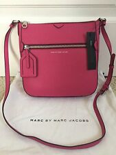 NWT Auth Marc by Marc Jacobs Recruit Pink Leather Crossbody Bag Handbag $298