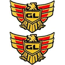 Set of 2 Honda Gold Wing GL Motorcycle Biker Racing Embroidered Iron on Patch