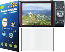 3x Clear LCD Screen Protector Guard Canon PowerShot ELPH 350 HS (IXUS 275 HS)