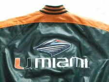 NUOVO * Miami Hurricanes Giacca di pelle * NFL * STARTER * FOOTBALL * Steve Barry 's * Gr: L * NUOVO