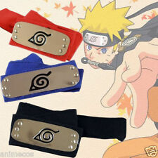 Naruto Leaf Village Kakashi Sasuke Sakura Konoha Ninja Headband Red black 3pcs
