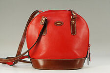 MINT Auth BALLY Shoulder Bag Red Brown Free Shipping _IT 723k20