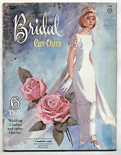 Vintage Whitman #1966 BRIDAL CUT-OUTS paper dolls 1965 uncut Bride/Wedding Party