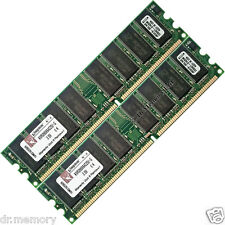2 GB (2 x 1 GB) DDR 266 MHZ PC-2100 NON ECC PC DESKTOP RAM pcmemory 184-p bassa densità