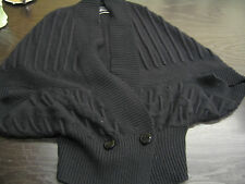 MALENE BIRGER BLACK WOOL BLEND LANCASTER KNIT / CARDIGAN APPROX UK 10 RRP £195