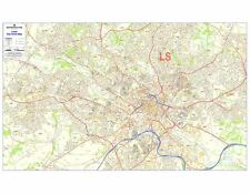 Postcode City Sector Maps 6 Leeds - Laminated Wall Map For Business