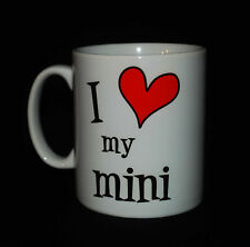 NEW I LOVE HEART MY MINI CUP MUG GIFT PRESENT COOPER CAR DRIVER LOVER NOVELTY