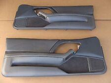 97-99 Camaro Z28 SS Leather Med Grey Door Panels Pair 010814