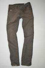 men's DIESEL DARRON 008QU olive urban Regular Tapered SLIM JEANS size W28 L32