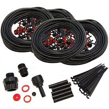 92M MICRO IRRIGATION AUTOMATIC WATERING GARDEN PLANT GREENHOUSE WATER DRIP KIT