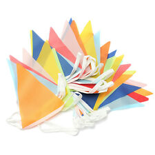 Holiday Supplies 10 Meter Banner Bunting Pennant Flags Party Decor Mixed color