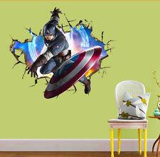 3D WALL Wandtattoo Wandsticker Wandaufkleber 70x50 captain america Kinder