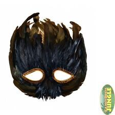 FEATHER EYEMASK MASKED MASQUERADE BALL BURLESQUE DANCER BIRD MASK - fancy dress