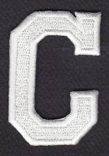 """LETTERS - WHITE BLOCK LETTER """"C"""" (1 7/8"""") - Iron On Embroidered Applique Patch"""