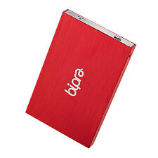 Bipra 80GB 2.5 inch USB 3.0 FAT32 Portable Slim External Hard Drive - Red