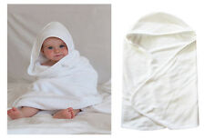 Cotton RIch Hooded New Born Baby Large Cuddle Robe Bath Towel Shower Cute Gift