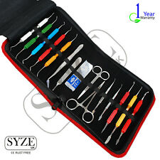 Dental Lab Instrument 15Pcs Set Scissor Scalar Plugger German Standard UK SYZE