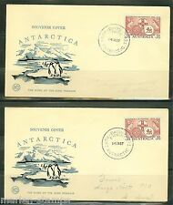 AUSTRALIA  LOT OF FOUR 1957 ANTARCTICA SOUVENIR COVERS  AS SHOWN