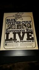 Blue Oyster Cult New Haven Collesium Concert Rare Radio Promo Poster Ad Framed!