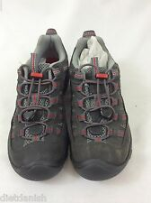 KEEN Youth Alamosa Hiking Trail Shoes Gargoyle Pompeian Red Size 2