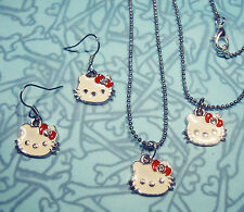 HELLO KITTY EARRINGS BRACELET NECKLACE SET last one