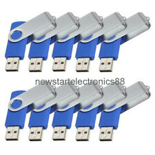 Lot 10 2G USB Flash Drive 2GB Thumb Memory Pen Key Stick Bulk Wholesale Blue 03