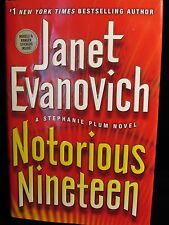 Notorious Nineteen Stephanie Plum Janet Evanovich Hard Cover 1st Edition Sticker