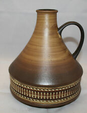 "Vintage West Germany Studio Art Pottery Brown Vase Jug 22cm 8 5/8"" Tall 324-21"
