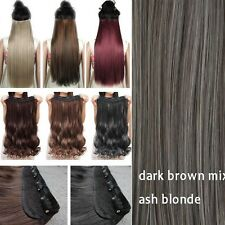GRADE THICK One Piece Clip in 100% As Remy Human Hair Extensions Full Head FH6