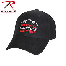 9820 Rothco 2nd Protects 1st Deluxe Low Profile Cap - Black