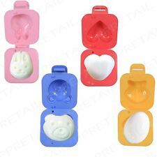 4Pc Boiled Egg Shapers +TEDDY/HEART/SHELL/BUNNY+ Kids/Children Cooking Mould