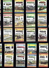 TRAIN RAILWAY Collection ST LUCIA 68 STAMPS Unmounted MINT Ref:TH560J