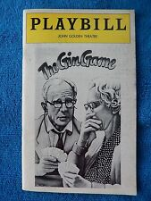 The Gin Game - John Golden Theatre Playbill - May 1978 - Jessica Tandy - Cronyn