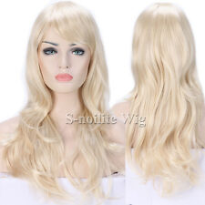 Ombre Pink Purple Red Green Long Cosplay Wig Straight Curly Wavy Women Hair Wigs