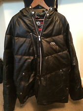 686 Men's Black Leather Down & Feather Snow Boarding Jacket Size M