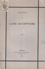 FIRENZE NECROLOGIO RICORDO DI LUISA AU-CAPITAINE