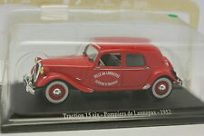 Universal Hobbies Presse 1/43 - Citroen Traction 15 6 Pompiers Lannepax 1952