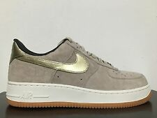 NIKE WOMENS AIR FORCE 1 '07 PRM SUEDE STRING METTALIC GOLD SZ 11 [818595-200]