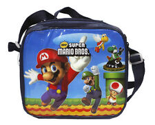 Mario Bros Insulated Cooler Snack Lunch Bag tote + Lunch Box & Bottle