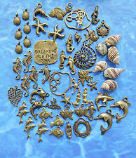 Dreaming of the Sea CHARMS: 60 BP Seahorse,Dolphins,Mermaids,Starfish,Shells ++