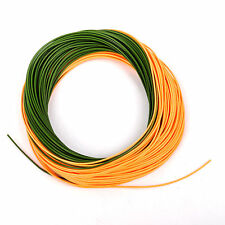 Fishing Fly Line WF5F/F Orange/Grass Green 100FT Weight Forward Floating Tip