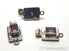 AMETHYST 925 Sterling Silver 22mm Faceted Box Clasp /A2