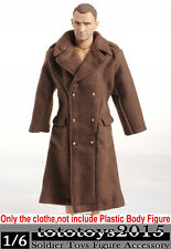 """Dragon DML Toys 1/6 WWII US Army Brown Overcoat Soldiers Clothing F 12"""" Figures"""