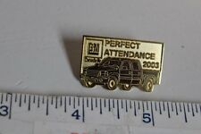 2003 GM Canada Perfect Attendance with a Chevy Silverado Hat Lapel Pin  RARE