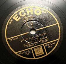 """JEAN WIENER & CLEMENT DOUCET D'you take me honey pianos french """"echo"""" 156 78 rpm"""