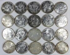 (20pc) ROLL OF MIXED DATE & CONDITION CANADA SILVER DOLLARS 1959-1966 $1    (2)