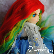 "Sweetiiger 6-7"" 1/6 BJD Hair IP yoSD doll wig Super Dollfie fantasy rainbow hair"